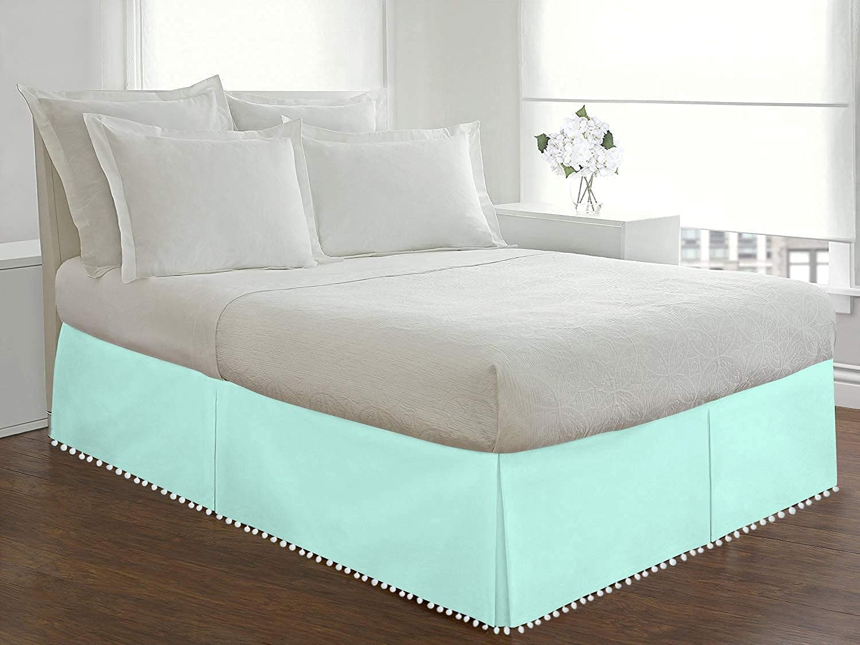 Kotton King Pom Tailored BedSkirt Max 75% OFF 800 Egyptian T 100% Cotton Popular standard
