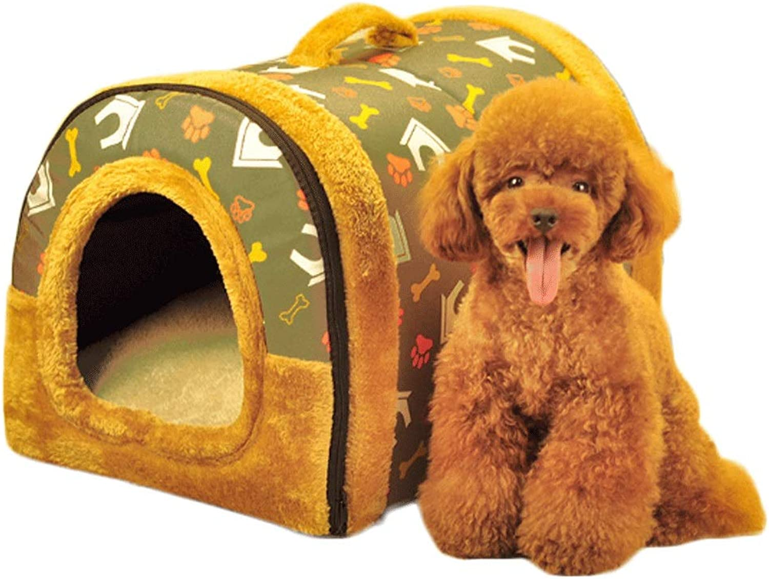 Pet Nest Kennel Removable and Washable Four Seasons Universal Dog House Bed Cat Litter Dual Purpose