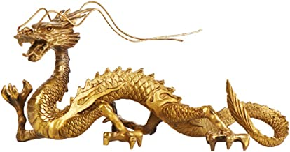 أفضل us Chinese Feng Shui Dragon Brass تمثال منحوتات للمنزل والمكتب تزيين الطاولة الحلي الثروة والنجاح هدايا محظوظة جيدة