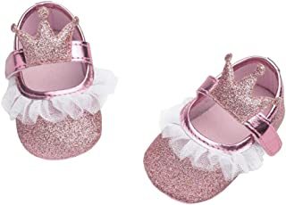 19aa8a4dc75f1 Amazon.fr   Chaussure Bapteme Fille - Rose