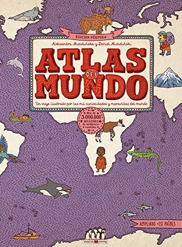 Atlas del mundo. Edición Púrpura: ¡El atlas del mundo ahora es más grande! (Libros para los que aman los libros)