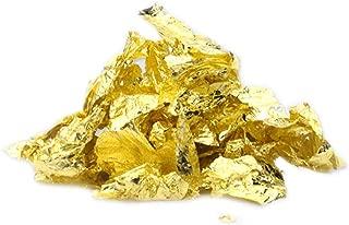 Essbare Goldflocken Essbare Goldflocken Essbare Blattgoldmaske Dekoration Goldfolie Kochen Kuchen Backen Geb/äck Kunsthandwerk Schokoladen dekoration 2 Flaschen