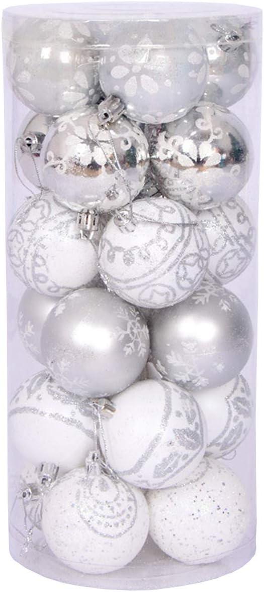 Christmas Balls Christmas Tree Ornament Shatterproof Christmas Decorations Tree Balls for Holiday Xmas Party Decoration 24ct 6cm/2.36