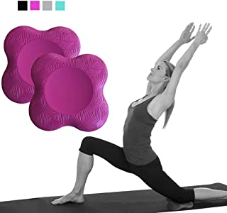 Yoga Knee Pad Cushion Extra Thick for Knees Elbows Wrist Hands Head Foam Yoga Pilates Work Out Kneeling pad (Rose red)