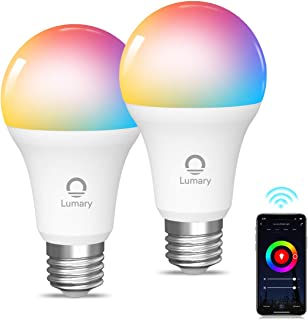 Lumary Wi-Fi LED 電球 スマートライト 9W 806LM E26 RGB 1600万色 電球色+昼光色 60W相当 調光 調色 ハブ・ブリッジ不要 アレクサ Google Assistant 対応 PSE認証 (2パック)