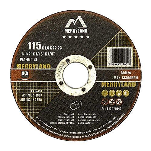 Merryland 115 X 1,6 Experto-line Disco de Corte Acero Inoxidable Metal 25PCS