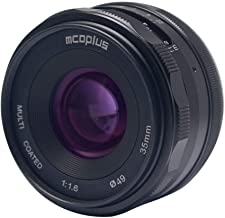 Mcoplus 35mm F1.6 Prime Fixed Manual Focus Lens for Sony E Mount Mirrorless APS-C Camera A9 A7II A7III NEX3 NEX5 NEX6 NEX7 A5000 A5100 A6000 A6100 A6300 A6500