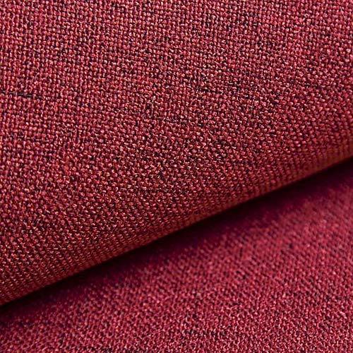 NOVELY® AUEN Premium Möbelstoff | Webstoff | fein gewebter Polsterstoff | Meterware | Bezugsstoff | 1 lfm | 23 Farben (08 Rot)
