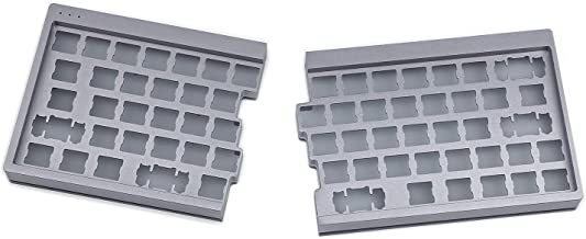 YMDK Split 64 SP64 CNC Aluminum Case Plate Hot Socket Hot Swap PCB Underglow RGB Fully Programmable DIY Kit