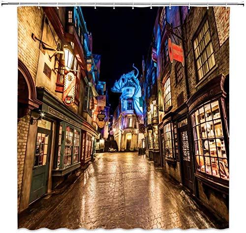 WS Harry Potter Diagon Alley - Cortinas de Ducha con diseño de...