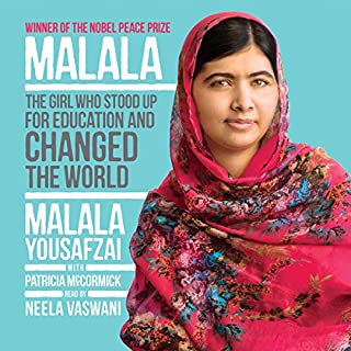 Malala     The Girl Who Stood Up for Education and Changed the World              De :                                                                                                                                 Malala Yousafzai,                                                                                        Patricia McCormick                               Lu par :                                                                                                                                 Neela Vaswani                      Durée : 4 h et 53 min     Pas de notations     Global 0,0