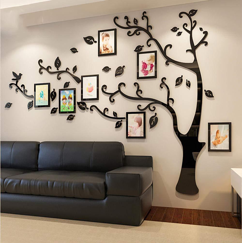 Amazon ウォールステッカー ステッカー リビングルーム てはがせる 反射光 壁装飾 居間 寝室 壁紙 3d 立体 壁紙シール テレビの背景 壁イラストウォールデコレーション ウォールペーパー 貼っ デジタルフォトフレーム 多色 複数のサイズ ブラック右 2 3m 1 75m ウォール