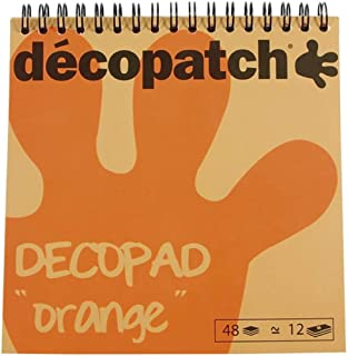 Décopatch BLOC010 - Un bloc à spirale de 48 feuilles de papier imprimé 15x15 cm, motifs assortis (12 designs x 4 feuilles)...