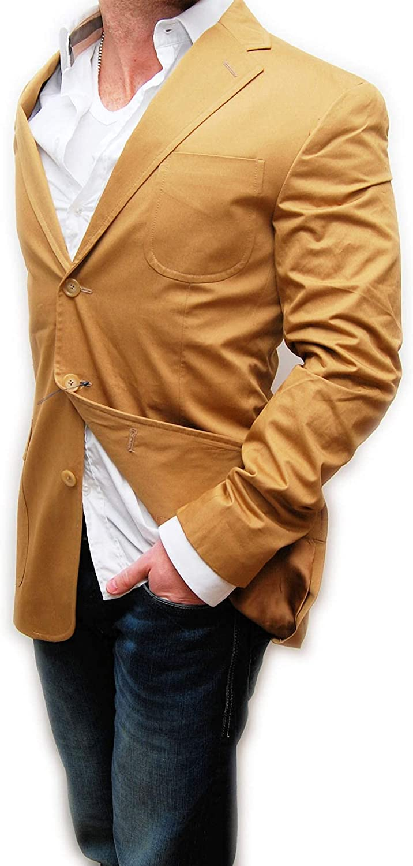 Ralph Lauren Rugby Mens Polo Cotton Suit Blazer Jacket Khaki Brown Tan Italy 38R $598