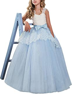 Girls Flower Wedding Dresses Lace Princess Pageant Dress Prom Ball Gown