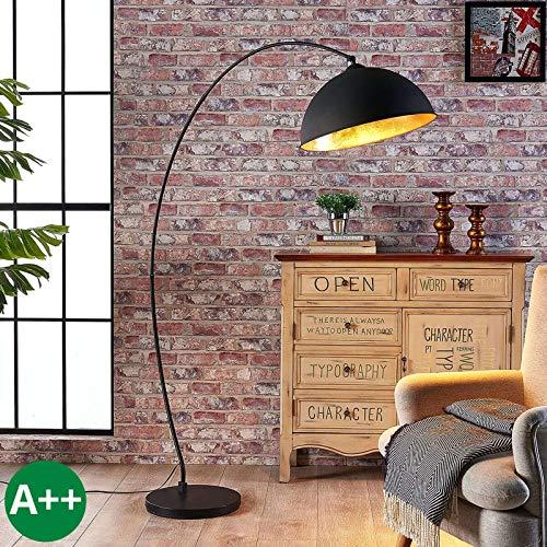 Lindby Stehlampe (Bogenleuchte) 'Jonera' (Für Kinder, Junges Wohnen) in Schwarz aus Metall u.a. für Wohnzimmer & Esszimmer (1 flammig, E27, A++) - Bogenlampe, Stehleuchte, Floor Lamp, Standleuchte