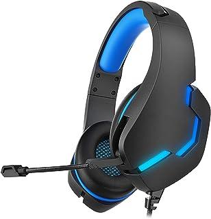 Casque de jeu professionnel avec microphone réglable et réduction du bruit pour ordinateur portable Contrôle du volume pra...