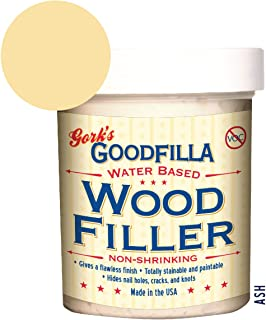 Water-Based Wood & Grain Filler - Ash - 8 oz by Goodfilla   Replace Every Filler & Putty   Repairs, Finishes & Patches   Paintable, Stainable, Sandable & Quick Drying