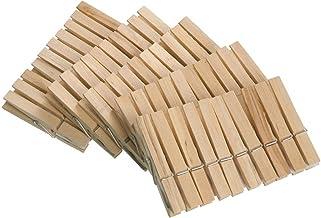 WENKO Wasknijpers van FSC® gecertificeerd echt hout 50-delig - 50-delig van FSC® gecertificeerd echt hout, 1 x 7 x 1 cm, b...
