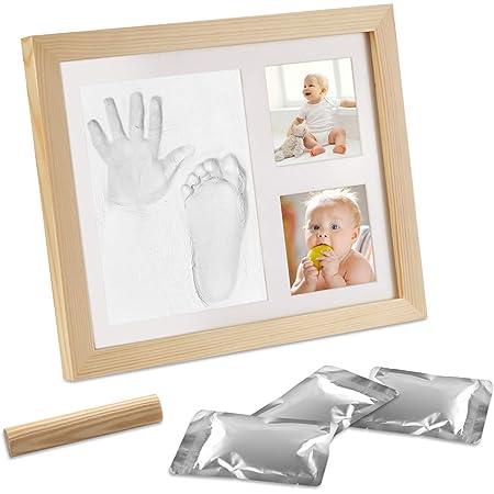 Orlegol Baby Handabdruck Und Fußabdruck Baby Holz Bilderrahmen Mit Gipsabdruck Baby Fuß Oder Hand Abdruck Set Baby Handprint Fussabdruck Ideale Babyparty Geschenk Erinnerungen Für Die Ewigkeit Baby