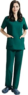 Medical Uniform Scrub Sets Scrubs Uniform Women and Man Scrubs Set Scrubs V-Neck Top and Cargo Pants Six Pockets Scrubs Set