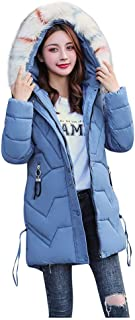 E-Scenery Women Long Coats Faux Fur Hooded Outerwear Button Solid Jackets with Pocket