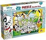 Liscianigiochi- Disney Doble Cara 35x50 cm con Reverso para Colorear de 60 piezas-101 Dálmatas Puzzle, Multicolor (Lisciani Giochi 86528)