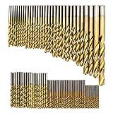 DingGreat 99 tlg Spiralbohrer Set, 1.5mm-10mm HSS Bohrer Set Titanium Metallbohrer Spiralbohrer Handspiralbohrer