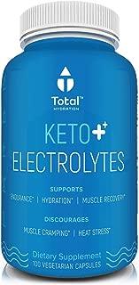 Plant Based Keto Electrolyte Supplement - Keto Balance Supplement | Keto Flu Symptom Relief & Rapid Rehydration W/Sodium, Magnesium & Zinc | for Exercise & Cramp Relief - 100 Vegan Tablets