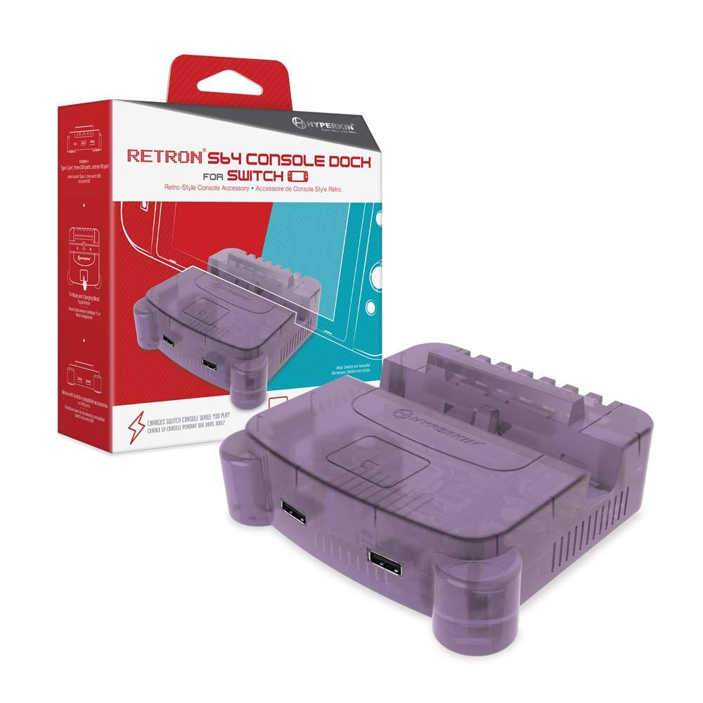 Hyperkin RetroN S64 Console Dock for Nintendo Switch (Purple)