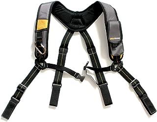 Tool Belt Suspenders/Work Suspenders with Padded Foam Adjustable Shoulder Straps, Large Phone Holder, Key Chain, Suspenders Loop Adjustable for Carpenter Suspenders Rig (Hook and Loop end)