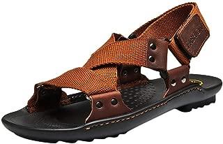 Men's Sandal,AopnHQ Mens Buckle Casual Tide Shoes Non-slip Comfortable Sandals Loafers Oxfords-shoes Slippers