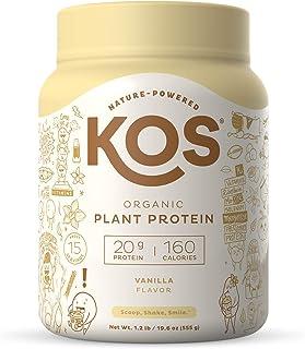 KOS Organic Plant Based Protein Powder, Vanilla - Delicious Vegan Protein Powder - Gluten Free, Dairy Free & Soy Free - 1....