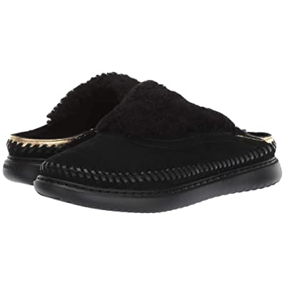 Cole Haan 2.ZeroGrand Convertible Slip-On (Black Suede/Ch Gold Metallic Leather/Black Shearling/Black) Women
