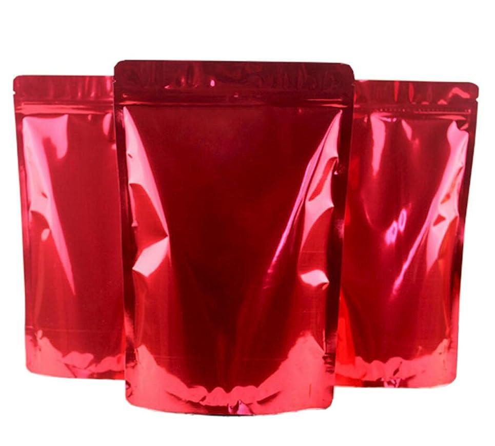 水素神彼自身12個 赤 アルミニウム ホイル セルフ シール バッグ 食品 パッケージ バッグ 耐久性 フラット ジップロック サンプル ポーチ 再利用可能 ヒートシール ノッチ 引き裂き パッキング ストレージ 16x26cm/6.3 x10.2 inch レッド FF58232R
