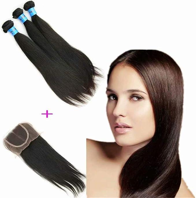 Queengirl - Arnés de pelo indio para cabello, 3 paquetes con ...