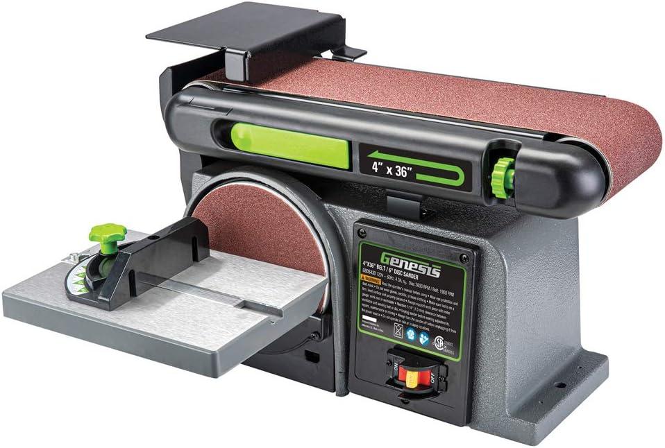 Genesis 4.3 Amp 4 in. x Combination Belt Disc 6 OFFicial shop Sande Limited price sale 36