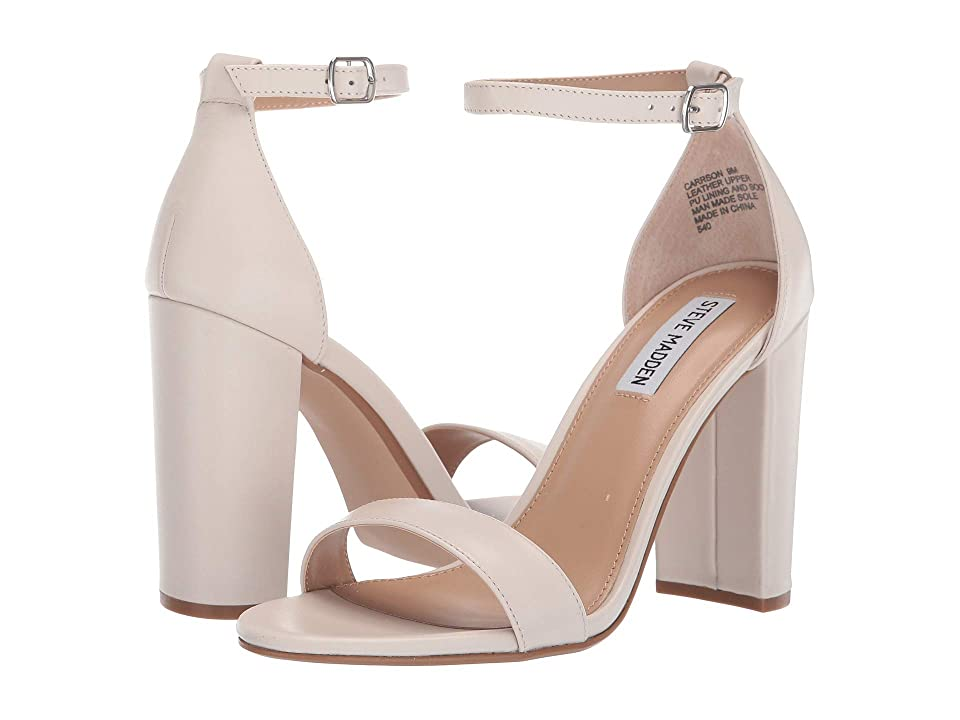 Steve Madden Carrson Heeled Sandal (Bone Leather) High Heels