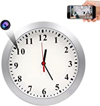 AMCSXH HD 1080P WiFi Hidden Camera Wall Clock Spy Camera with Motion Detection, Security for Home and Office, Nanny Cam/Pe...