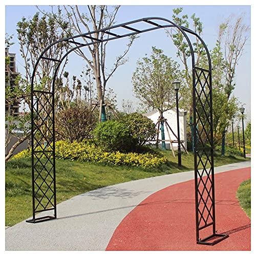 Trädgårdsarborrar, trädgårdsbåge, rutnätdesign är starkare 5 storlekar att välja Härdat skruvfästning Utomhus trädgård balkong blomma stativ,240cm x 230cm