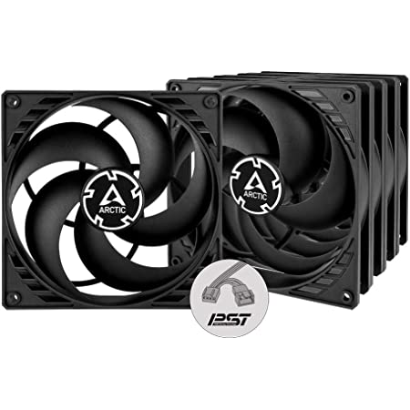 ARCTIC P14 PWM PST (5 Pack) - 140 mm Case Fan with PWM Sharing Technology (PST), Value Pack, Pressure-optimised, Computer, Fan Speed: 200-1700 RPM - Black