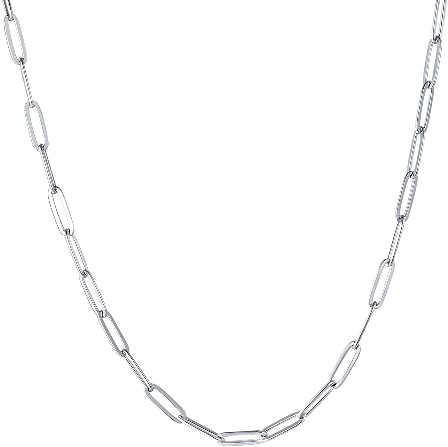 Sunling Stainless Same Regular store day shipping Steel Dainty Paperclip for Necklace Chain Link