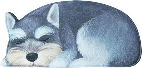 YOHA 3D Print Puppy Doggie Doormat Soft Home Decor Doormat Area Rugs Non-Slip Thick Floor Rug for Living Room Bedroom Kids Room Bathroom Kitchen and Outdoors 1.3x2.9ft,Schnauzer