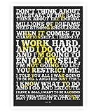Usain Bolt Sport Inspirierende Zitate Poster in