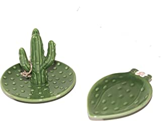 Decor Park Cactus Ring Holder - Set of 2 -  Ring Holder for Jewelry - Perfect Teen Room Decor For Girls Bedroom