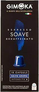 Cápsulas de Café Soave Decaffeinatto Gimoka, Compatível Com Nespresso, Contém 10 Cápsulas