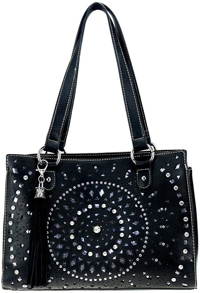 Montana West Concealed Handgun Carry Purse Max 65% OFF Tote Bling Cheap sale Coll