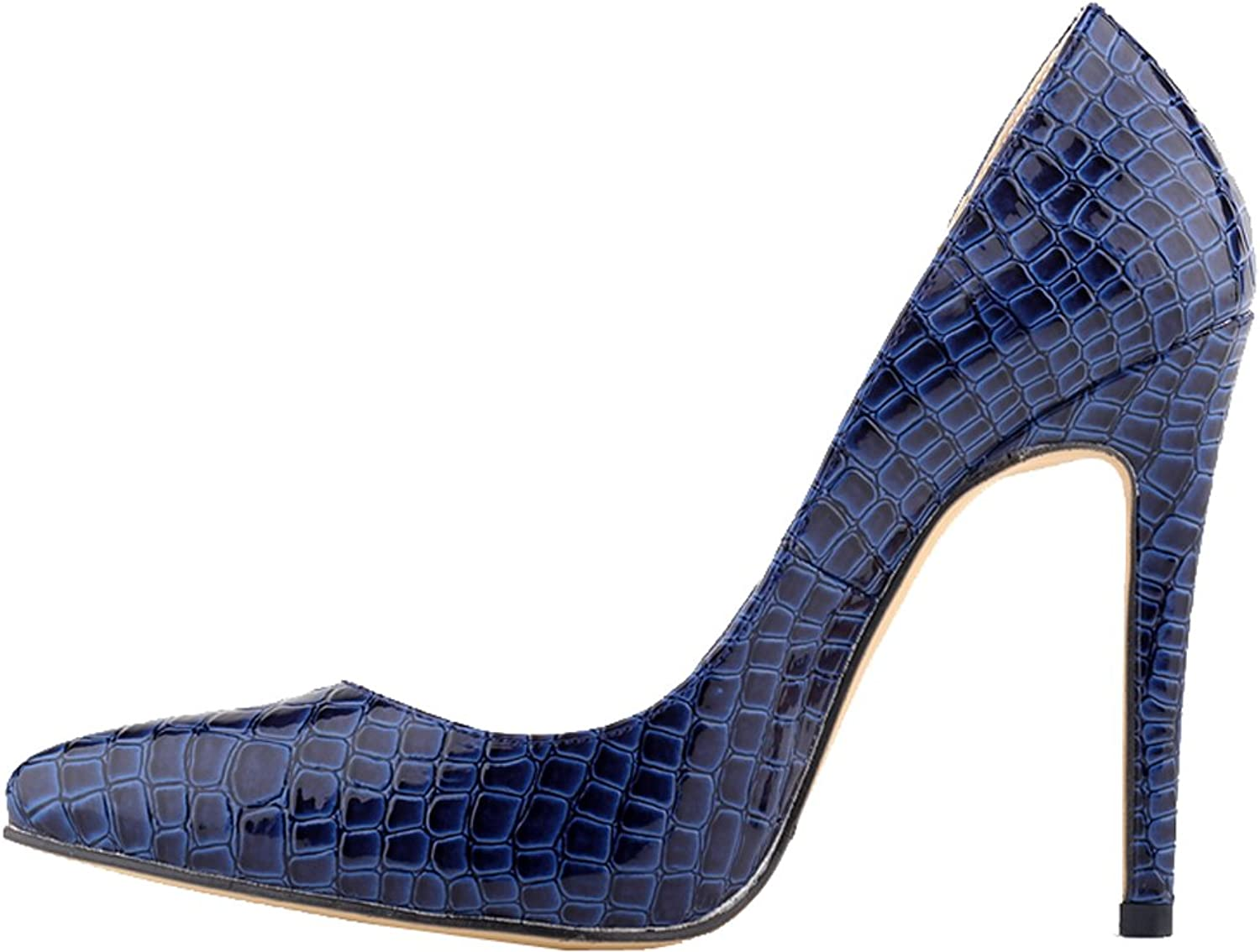 Vimedea Womens Wedding Slip On Pointed Toe Stiletto Pumps Party Charm Court shoes 302-1EY