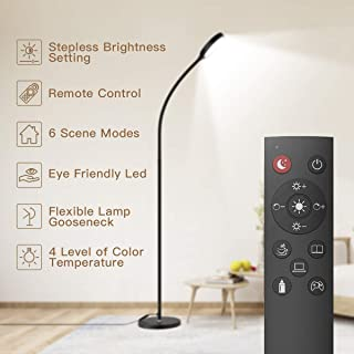 Floor Lamp, Remote & Touch Control 2500K-6000K LED Floor Lamp for Bedroom and 4 Color..