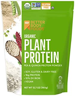 LIVfit Superfood Organic Plant Protein — Add Vegan Protein To Any Recipe, Packed Full Of Organic Superfoods, Contains 16g Of Vegan/Plant Protein, Produced by BetterBody Foods, 12.7 Ounce